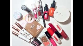 Collective Korean Makeup Haul & Review| Innisfree, Clio, Etude House, Peripera| by themakeaholics