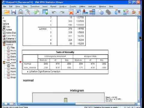 16. Prueba de normalidad Kolmogorov-Smirnov | Curso de SPSS from YouTube · Duration:  5 minutes 38 seconds
