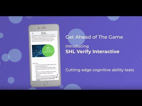 SHL Verify Interactive   Innovative Cognitive Ability