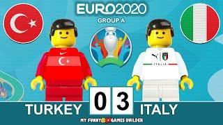 Turkey vs Italy 0 3 EURO 2020 Group A All Goals Highlights Lego Football Italia Turchia