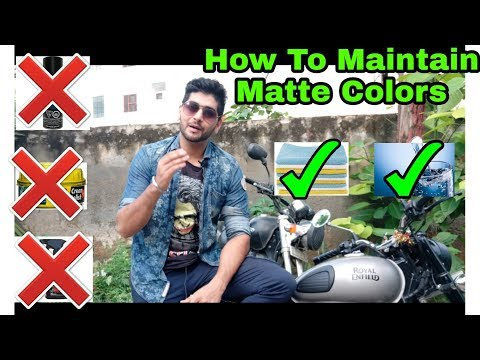How to Maintain Color of Royal Enfield Classic Gun metal Grey & Thunderbird Rock or any Matte Paint