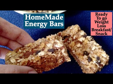 Homemade Energy Bars Recipe | How to make Healthy no-Bake Energy Bars | Ready to go Breakfast