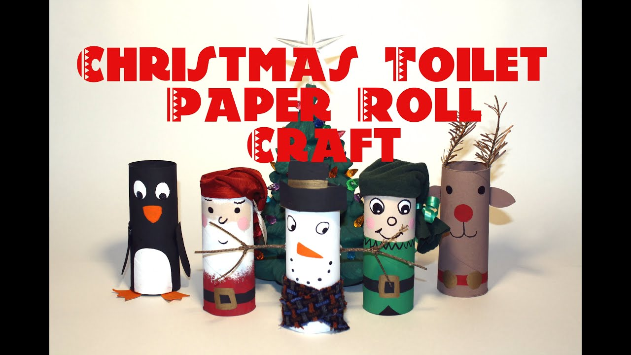 How to make a christmas decor out of recycled materials - Diy Christmas Decorations Recycled Toilet Paper Roll Craft Thekateemeow Youtube