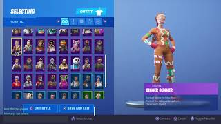 MY REACTION TO MY LAST RARE SKIN COMING OUT..... (FORTNITE GINGER GUNNER)