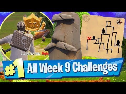 Fortnite SEASON 5 WEEK 9 Challenges Guide (Shifty Shafts Treasure Map + FREE Banner Icon)