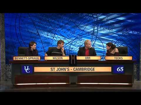 University Challenge S40E16 St. Andrews vs. St. John's, Cambridge