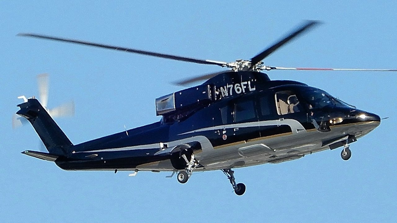 Sikorsky S-76 Helicopter From Van Nuys Airport Practicing
