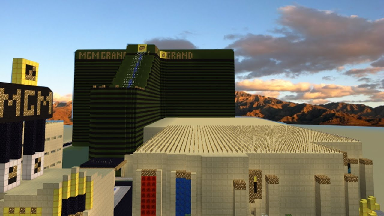 las vegas in minecraft - build of the day - day 4 - 1440p