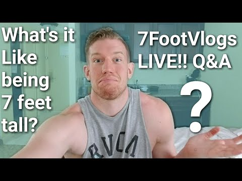 THE FLOOR IS LAVA LIVE STREAM WITH A 7 FOOT DUDE!