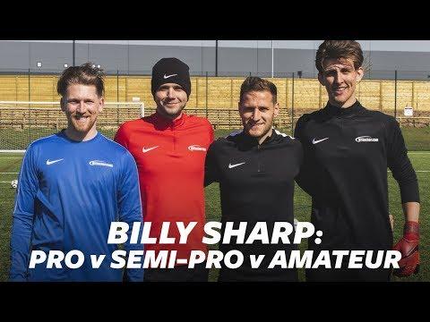 Billy Sharp scores insane scissor kick! | Pro vs Semi-Pro vs Amateur