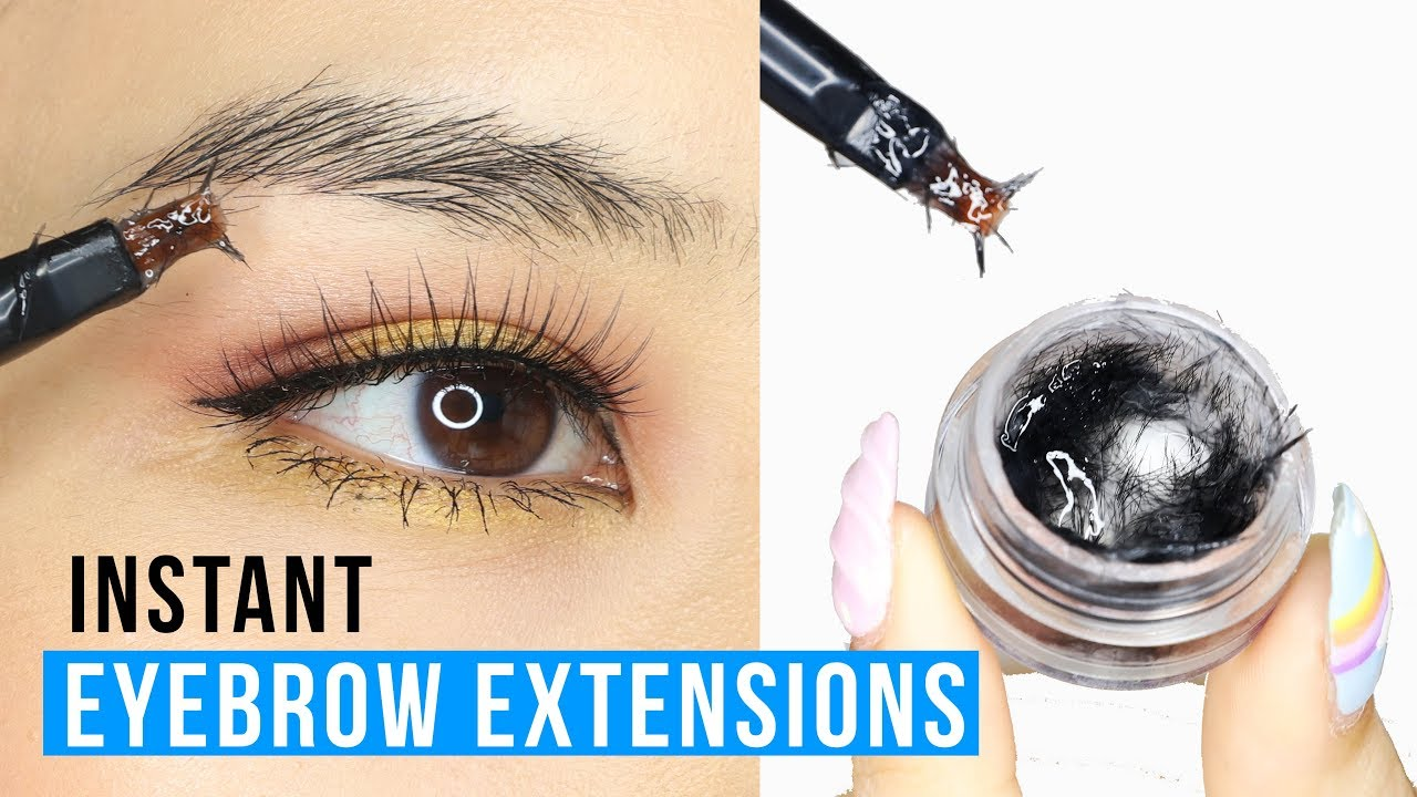Brush On Eyebrow Extensions?! Tina Tries It