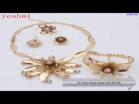 New design African Elegant Gold-color Jewelry Sets