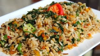 Jamaican Callaloo Fried Rice (Veg + Gluten Free)  -Tasty Tuesday's | CaribbeanPot com