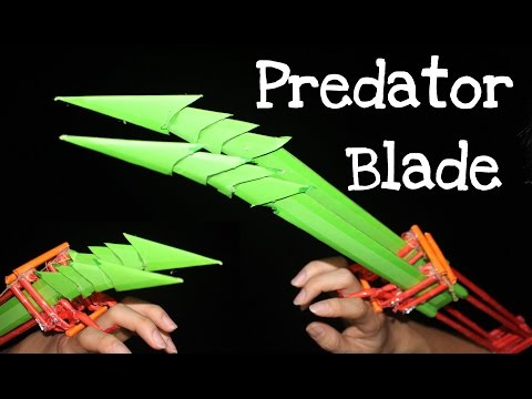 How to make a Paper Predator Blade for Halloween