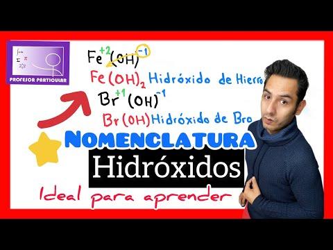 Nomenclatura Química-Hidróxidos nombra hidróxidos facil y rapido