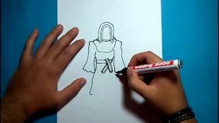 Como dibujar un fantasma paso a paso 11 | How to draw a ghost 11