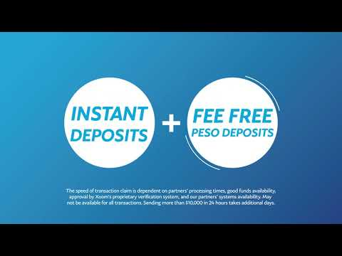 Upgrade to Xoom and send fee-free deposits to the Philippines!