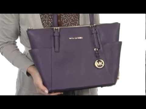 94f8ba78e MICHAEL Michael Kors Jet Set Saffiano Top Zip ToteSKU:#8038292 - YouTube