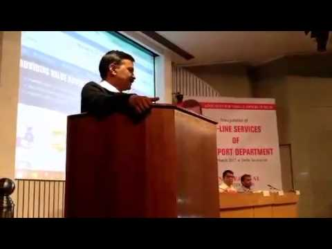 Delhi CM Arvind Kejriwal Speech at Inauguration of ON-Line Services of Transport Department - 동영상