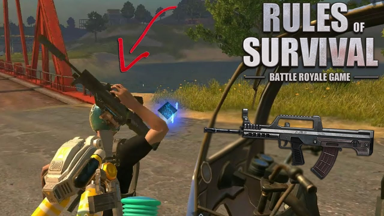 Noah Uses the *New* QBZ97 Assault Rifle! (Rules of Survival #130)
