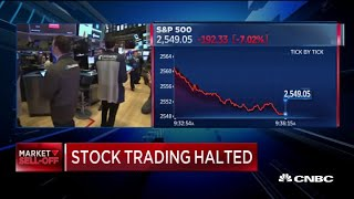 NYSE trading halted for 15 minutes triggered after S&P 500 drops 7% at open