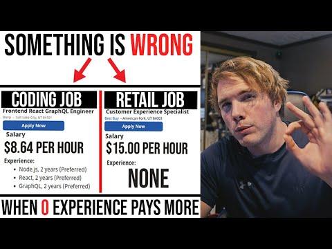 RETAIL IS PAYING MORE CODE JOBS - GARBAGE DEV JOBS
