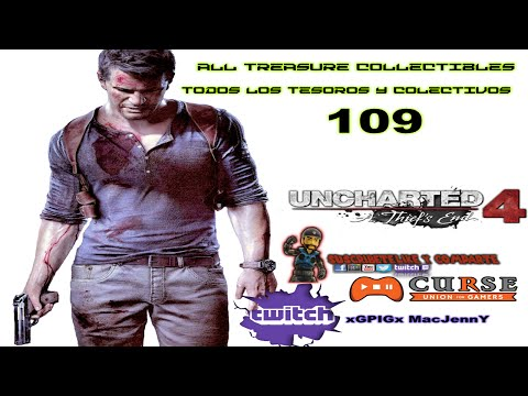 uncharted 4 A thief's End 109 all treasure collectibles(SPA/ENG)