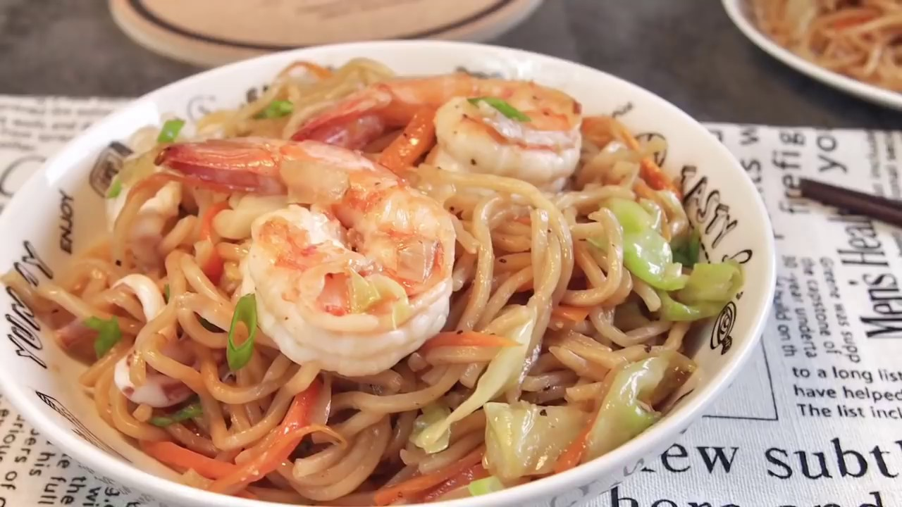 "Easy Recipe Japanese Noodles Yakisoba Noodles Ç""¼ããã° Japanese Noodle Stir Fry Recipe Youtube"