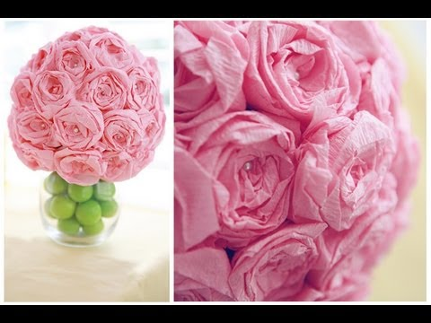 Diy paper flower ball youtube diy paper flower ball mightylinksfo