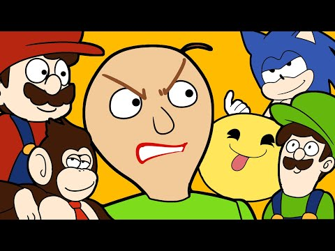 download BALDI'S BASICS vs SONIC MARIO LUIGI DONKEY KONG and PACMAN ANIMATION