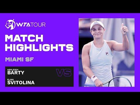 Ashleigh Barty vs. Elina Svitolina | 2021 Miami Semifinals | WTA Match Highlights