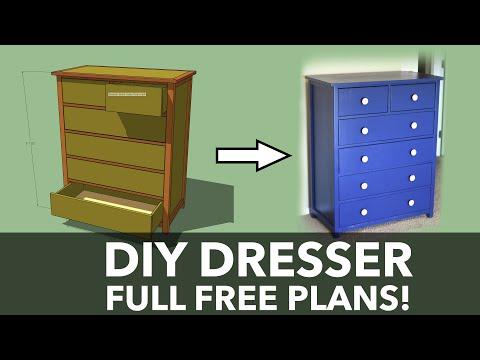 How To Build a Dresser | DIY Tall Dresser