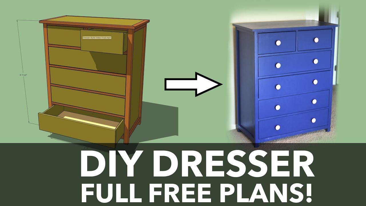 Build A Dresser Diy Tall