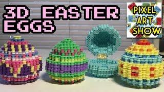 3d Perler Bead Easter Eggs
