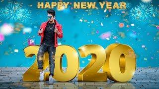 PicsArt Happy New Year 2020 Photo Editing Tutorial in picsart Step by Step in Hindi Taukeer editz