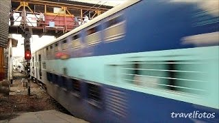 Double Decker Train at full speed / Mahim Station Mumbai / Trains of India Short Video