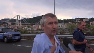 Overlevende brugramp Genua: 'Ik hoorde een enorm kabaal en vloog door de lucht' - RTL NIEUWS