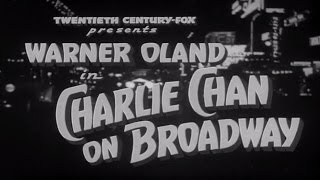 12   Charlie Chan On Broadway 1937 Excellent
