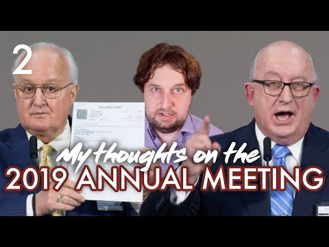 My Thoughts On The 2019 Annual Meeting - Part 2