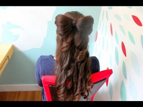 como hacer un moño en el cabello - youtube