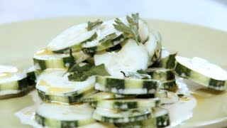 Cucumber Salad Recipe - Simple Salad With Cucumbers, Herbs And Mayo