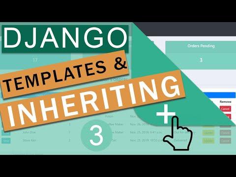 Templates &  Inheritance   Django Framework (3.0) Crash Course Tutorials (pt 3)