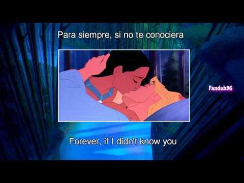 Si no te conociera (If I never knew you) [Sub & Translation] {Pocahontas}
