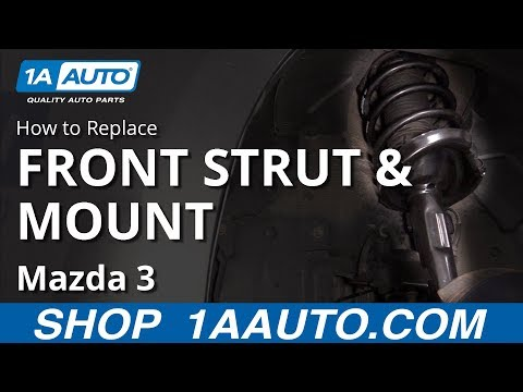 How to Replace Front Strut and Mount 08-13 Mazda 3