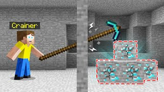 USING HACKER Pickaxe In Minecraft!