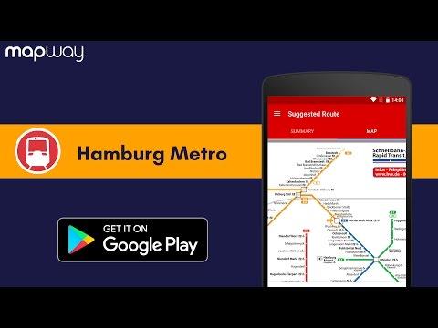 Hamburg Metro Hvv U Bahn S Bahn Map And Routes Aplikacje W