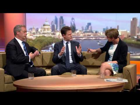 Nigel Farage vs Yvette Cooper vs Nick Clegg
