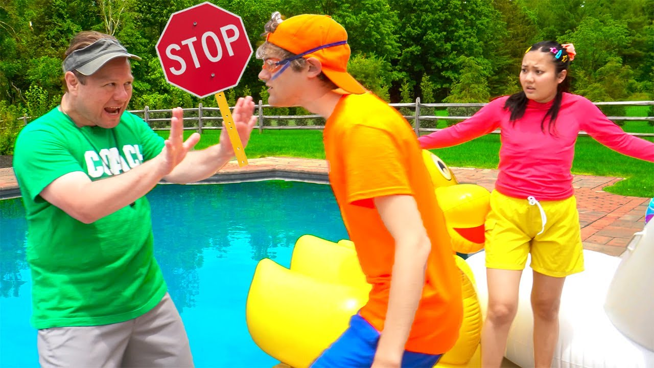 Ellie VS Jimmy in Last to Leave the Pool CHALLENGE! | Outdoor Games for Kids