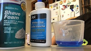 Making Slime With Glue, Laundry Detergent, and Shaving Cream!?!!