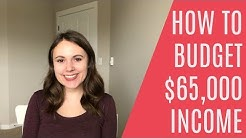 BUDGET FOR A $65,000 ANNUAL INCOME